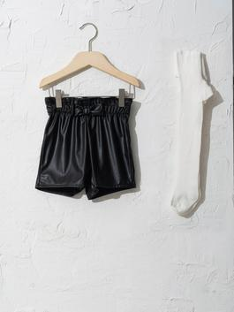 BLACK - Baby Girl's Shorts and Tights