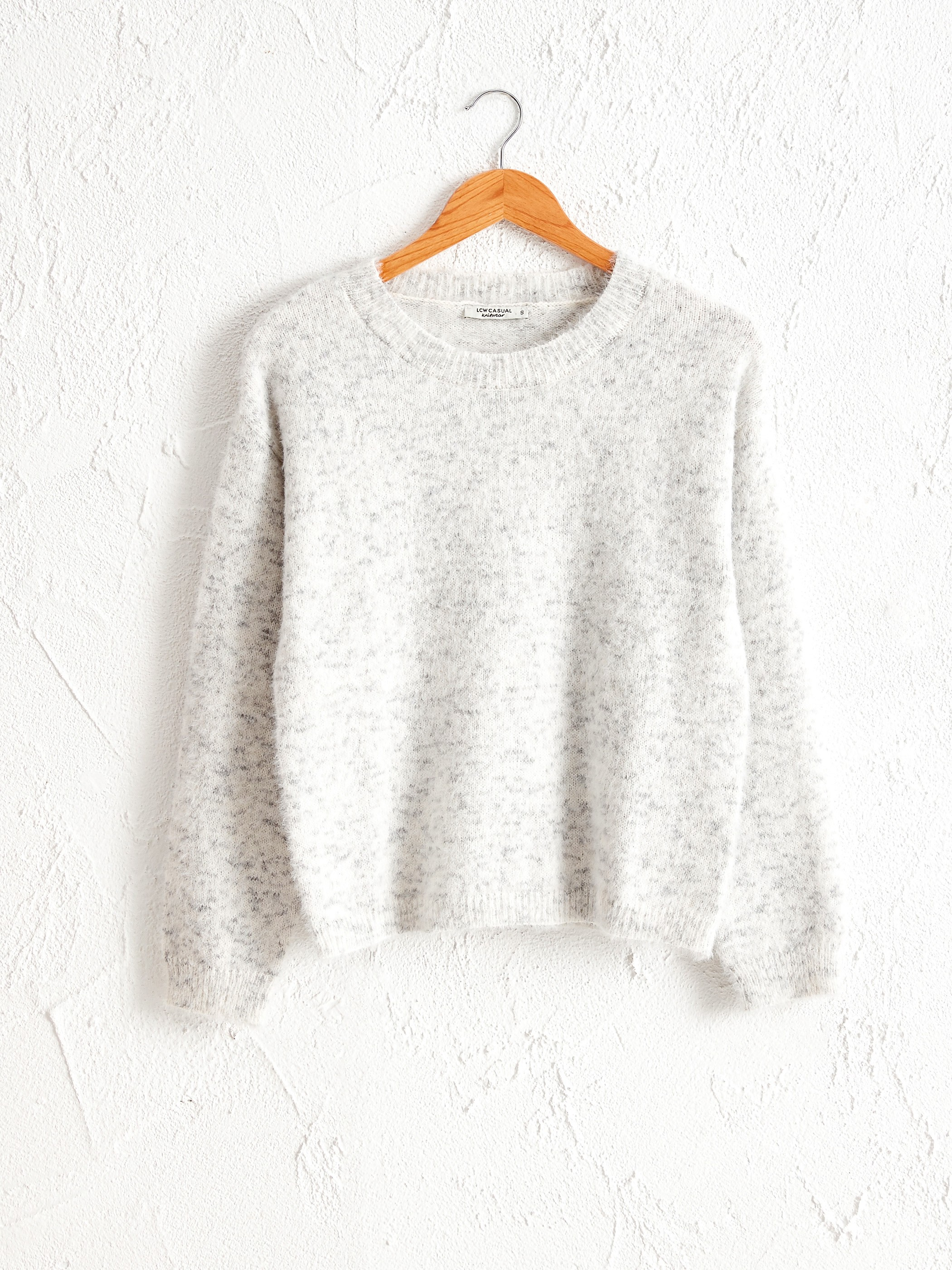 GREY - Glitter Detailed and Furry Tricot Jumper - 0W6167Z8