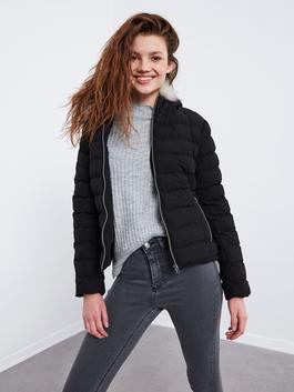 BLACK - XSIDE Hooded Thick Puffer Coat