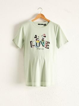 GREEN - Minnie Mouse Printed Maternity T-Shirt