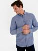 BLUE - Regular Fit Long Sleeve Poplin Shirt - 9W1097Z8