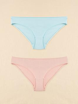 BLUE - Organic Cotton Classic Briefs 2 Pieces