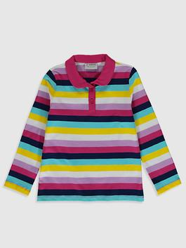 MIX - Girl's Striped Cotton T-Shirt