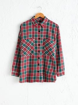 GREEN - Pocket Detailed Chequered Shirt