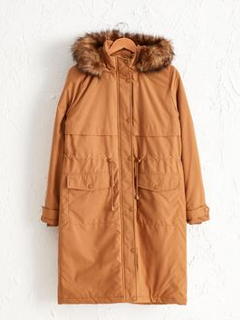 BEIGE - Heavy Parka with Hood