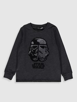 ANTHRACITE - Boy's Double-Sided Sequin Star Wars T-Shirt