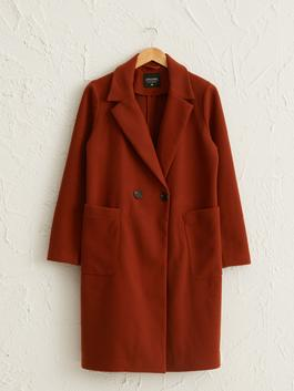 ORANGE - Peacoat with Button Detail