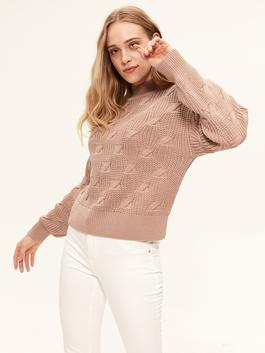 PINK - Self-Patterned Tricot Jumper
