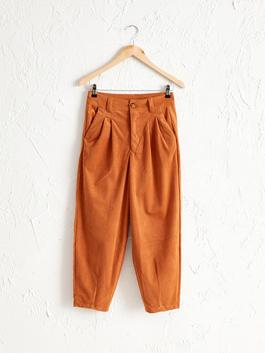 BROWN - Ankle-Length Slouchy Pants