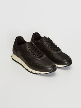 BLACK - Men's Lace-Up Casual Shoes