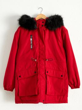 RED - Heavy Parka with Hood