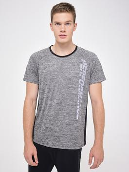 GREY - Active Sport Letter Printed T-Shirt