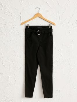BLACK - Ankle Length Skinny Trousers