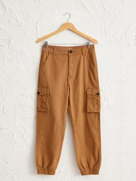 BEIGE - Ankle Length Cargo Pants