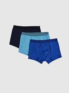 BLUE - 3-pack Stretch Fabric Standard Fit Boxers