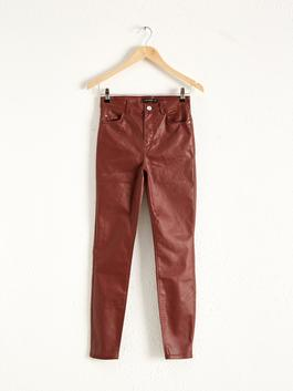 BROWN - Ankle Length Skinny Trousers