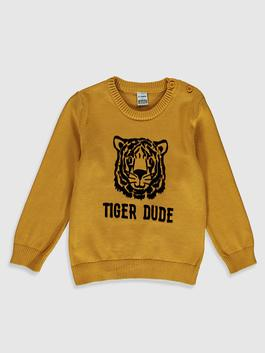 YELLOW - Baby Boy's Printed Tricot Jumper