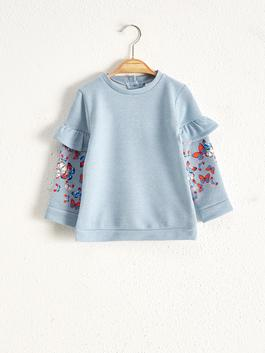 BLUE - Baby Girl's Printed Sweatshirt