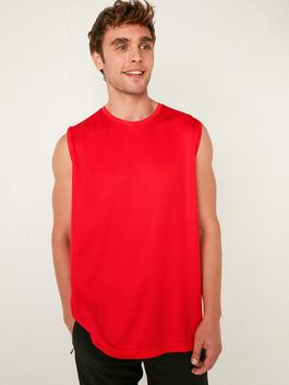 RED - Standard Fit Active Sport Tank Top