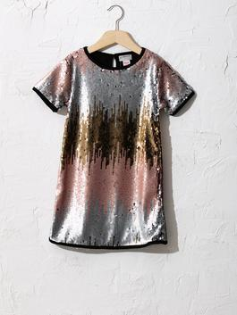 MIX - Girl's Double-Sided Sequin Dress