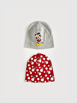 RED - Baby Girl Minnie Mouse Licensed Jersey Beanie 2-Piece