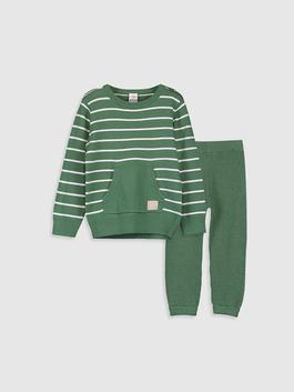 GREEN - Baby Boy's Tricot Jumper and Sweatpants