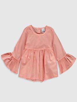 CORAL - Baby Girl's Cotton Blouse
