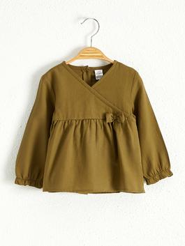 GREEN - Baby Girl's Cotton Blouse