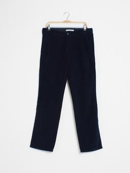 NAVY - Loose Fit Velvet Chino Trousers