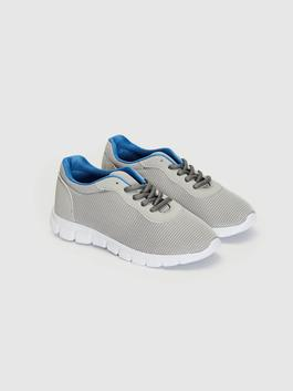 GREY - Boy's Active Lace-up Trainers