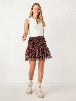 MIX - Floral Pattern Tulle Skirt