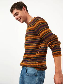 YELLOW - XSIDE Crew Neck Thick Knitwear Sweater - 0WCQ74Z8