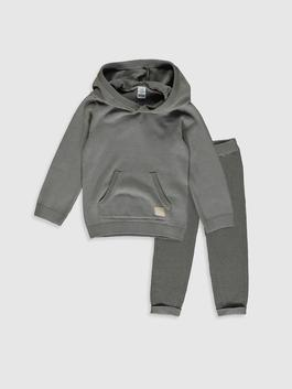 GREY - Baby Boy's Tricot Jumper and Sweatpants