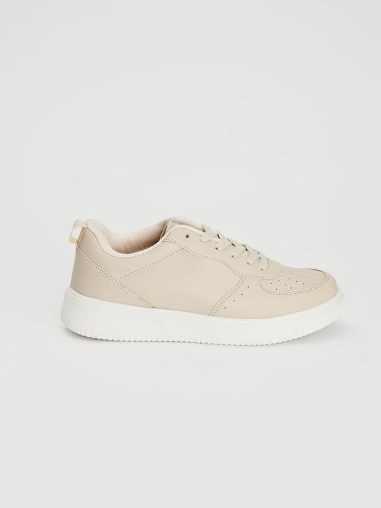 BEIGE - Women's Lace-Up Casual Trainers - 0WHJ98Z8