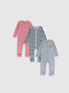 GREY - Baby Girl Rompers 3 Pieces