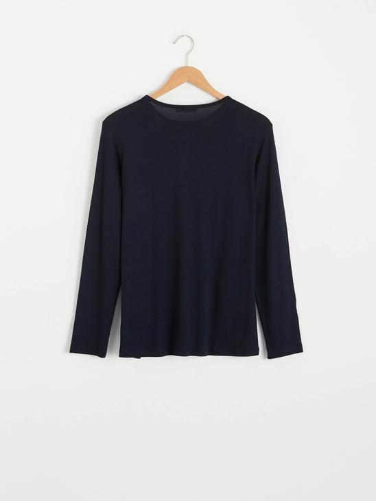 NAVY - Embroidered Neck Flexible T-Shirt - 0WGT43Z8