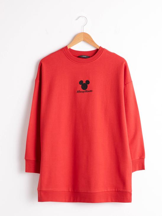 RED - Mickey Mouse Embroidered Oversize Sweatshirt - 0WHN41Z8