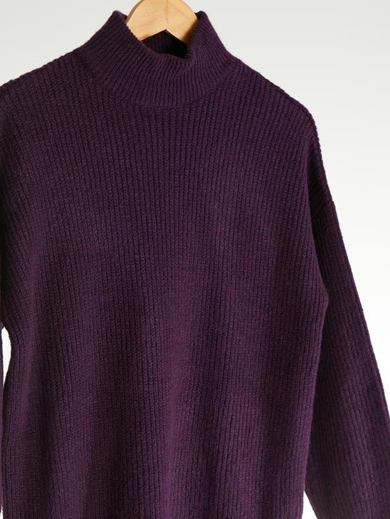 PURPLE - Loose Fit Neckband Tunic - 0W5581Z8