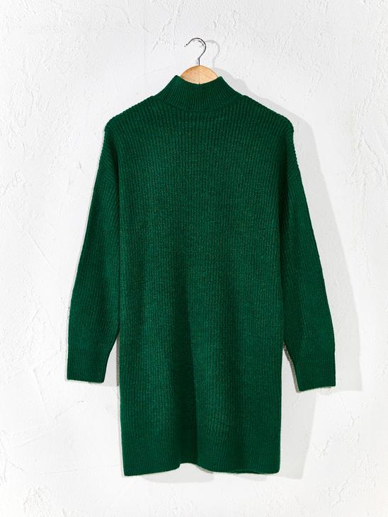 GREEN - Loose Fit Neckband Tunic - 0W5581Z8
