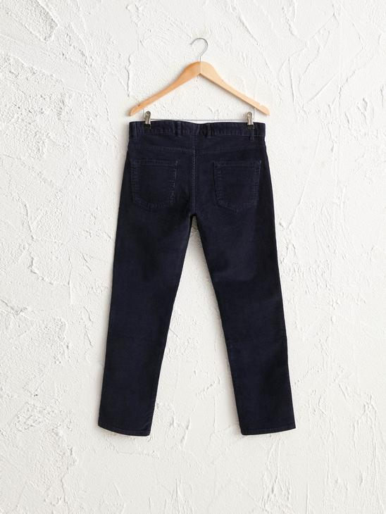 NAVY - Slim Fit Chino Trousers - 0WG018Z8