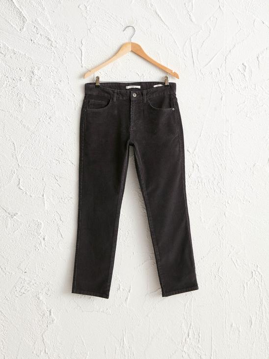 ANTHRACITE - Slim Fit Chino Trousers - 0WG018Z8