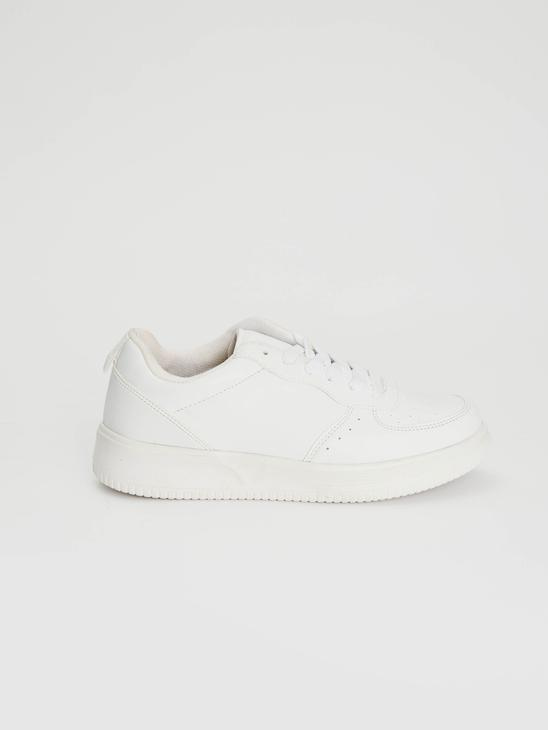 WHITE - Women's Lace-Up Casual Trainers - 0WHJ98Z8