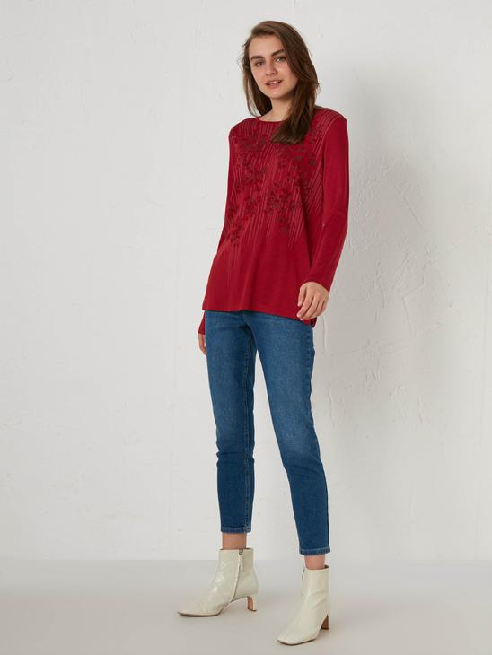 RED - Printed Stretch T-shirt - 0WGT47Z8