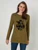 KHAKI - T-shirt Made of Printed and Textured Fabric - 0WGU38Z8