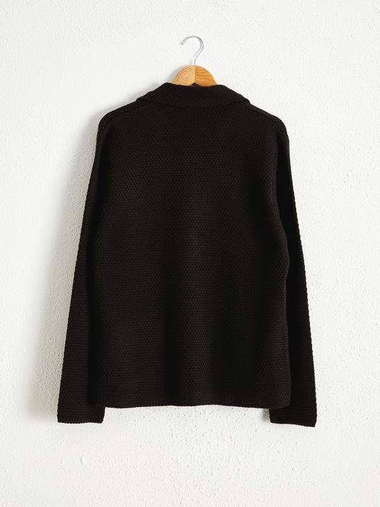 BLACK - Tricot Cardigan with Button Detail - 0WH572Z8