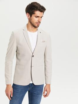 BEIGE - Slim Fit Blazer Jacket