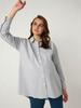 ANTHRACITE - Striped Oversize Maternity Shirt - 0WHV32Z8