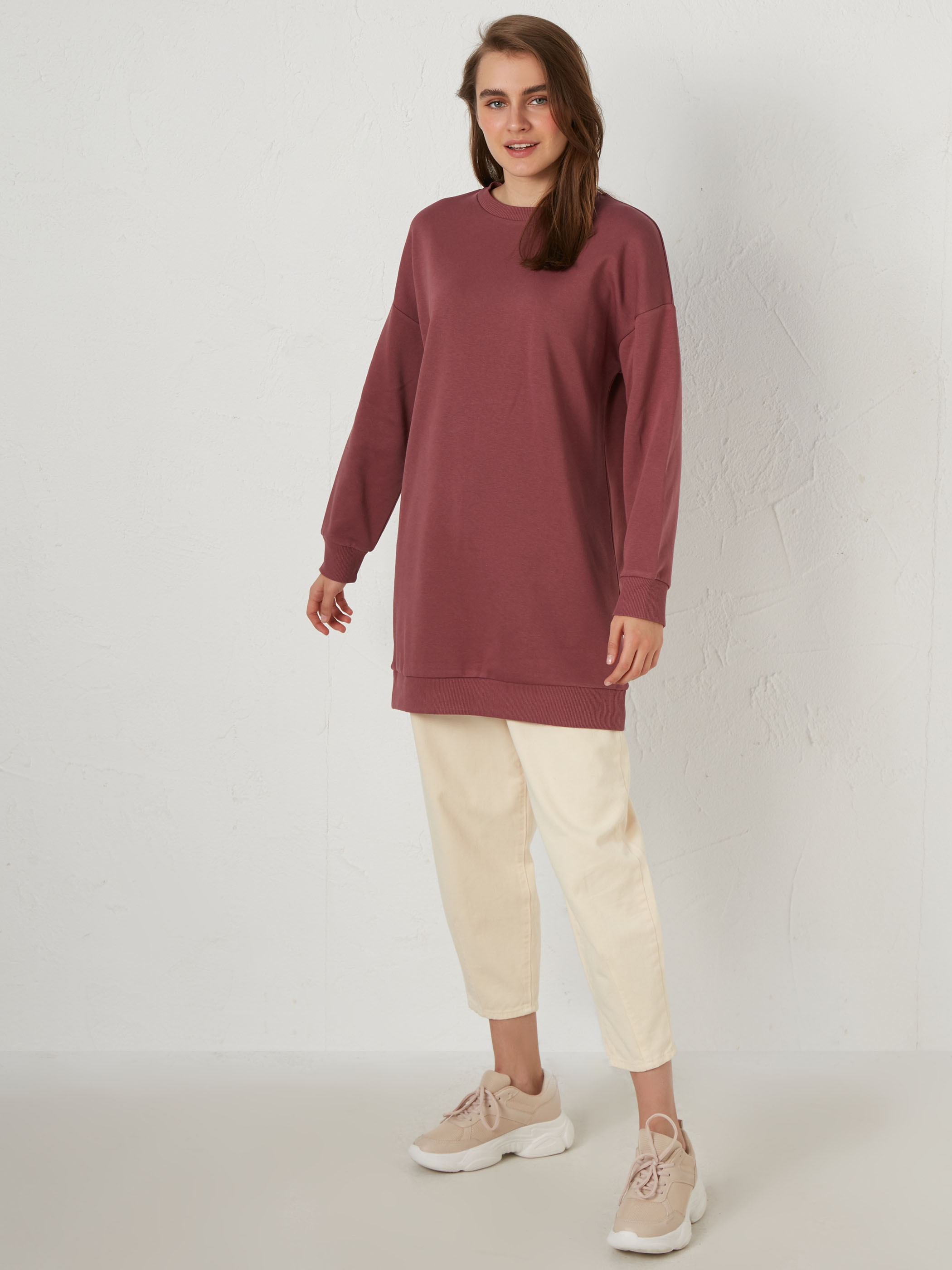 PINK - Plain Basic Sweatshirt - 0WGU46Z8
