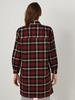 RED - Chequered Oversize Tunic - 0WGT37Z8