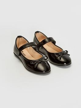 BLACK - Girl's Bow Knot Detailed Flats